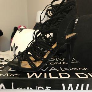 Wild Diva - Berlin Faux Suede Strappy Heels